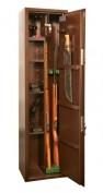 Оружейный сейф на 2 ружья с отделением под патроны