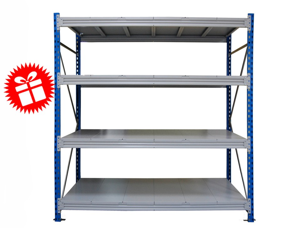Стеллаж для гаража CФМ (500 кг на полку), 4 яруса, рама 2000 х 600 мм